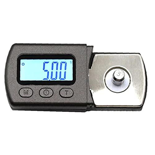 ODOUKEY-Phono Prensa NeedlePrecise Digital Escala de la Placa giratoria Stylus Force Gauge 0.01g LCD de retroiluminación de la Pantalla de Placas giratorias Tonearm Phono