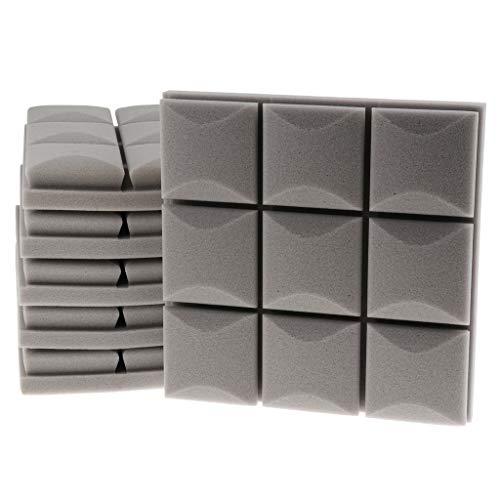 6 stuks akoestisch schuim-panelen, geluiddempend, voor KTV uniek cadeau voor mannen, vrouwen, gitaristen, grijs, zoals beschreven