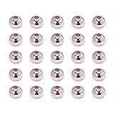 PandaHall-Lot de 100pcs Perles d'espacement,Ronde,Argent,Environ 8 mm, Trou: 3 mm