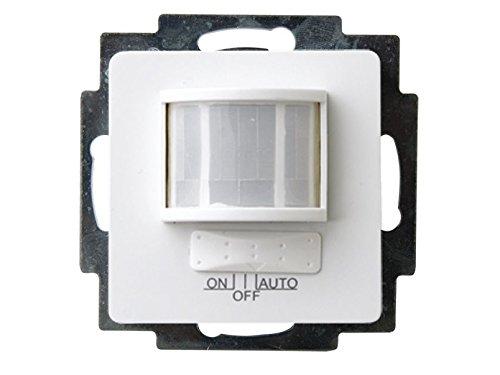 Bewegungsmelder zum Einsetzen aus Kunststoff für Innen, in polarweiß, 120°/12m, Business-Line, GAO 4349