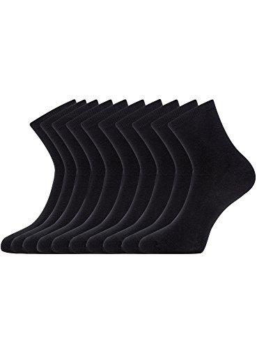 oodji Ultra Damen Socken (10er-Pack), Schwarz, 38-40