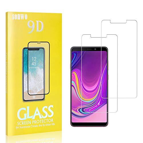 2 Stück Displayschutzfolie Kompatibel mit Galaxy A5 2018, SONWO 9H Härte und Bubble Free HD Klar Glas Displayschutz für Samsung Galaxy A5 2018