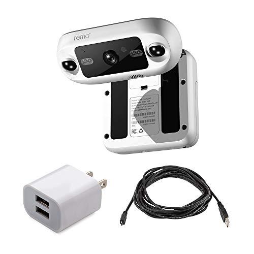 Remo+ DoorCam 2 Wireless Over-The-Door Smart Security Camera Bundle with...