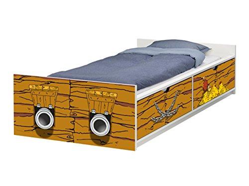 STIKKIPIX Piraten Schiff Möbelfolie | passend zum IKEA Kinderbett FLAXA | passgenaue Klebe-Folie für Schubkästen und Stirnseite | FLX09 | Möbel Nicht Inklusive