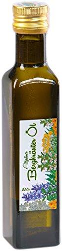 Bergkräuter Öl aus dem Allgäu - 250ml Olivenöl mit frischen Bergkräutern   Feinkost Kräuteröl