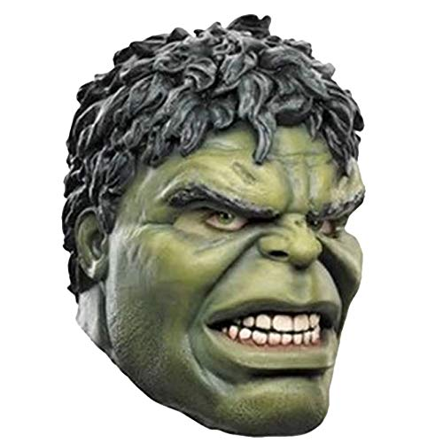 QQWE Halloween Maske Marvel The Avengers Hulk Kopf Cosplay Maskerade Thema Party Film Performance Requisiten,A-OneSize