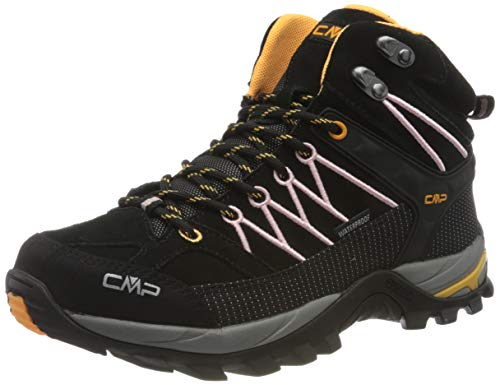 CMP – F.lli Campagnolo Damen Rigel Mid Wmn Shoe Wp Trekking- & Wanderstiefel, Schwarz (Nero-Pastel PINK 31TE), 36 EU