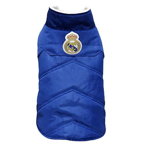 Real Madrid AB-01M-RM Abrigo para Perro, Talla M