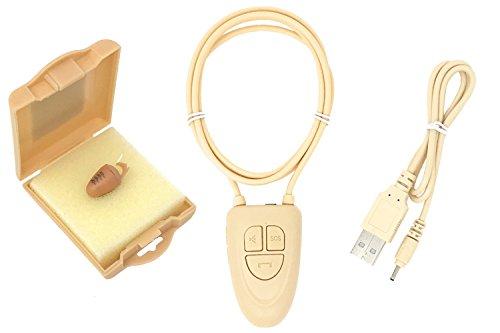Spy Gadget® Onzichtbare Kleine Spy Oorstuk Super Kleine Nano Bug Bluetooth Draadloze GSM Neckloop Box ID Card Portemonnee Covert Systeem (3.5 Bluetooth Neckloop, R2)