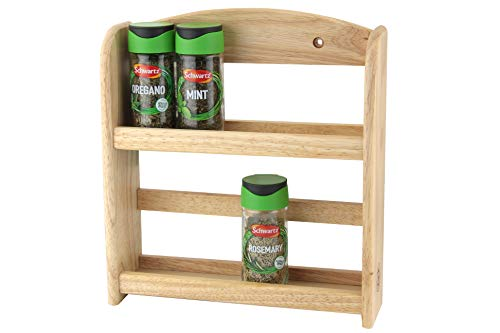 Apollo 2-tier Spice Rack, Estantería para especias, color natural