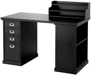 IKEA Desk with Storage, Black 47 1/4x23 5/8