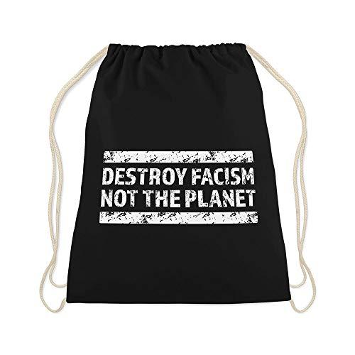 42thinx Turnbeutel Destroy Facism Not The Planet Schwarz