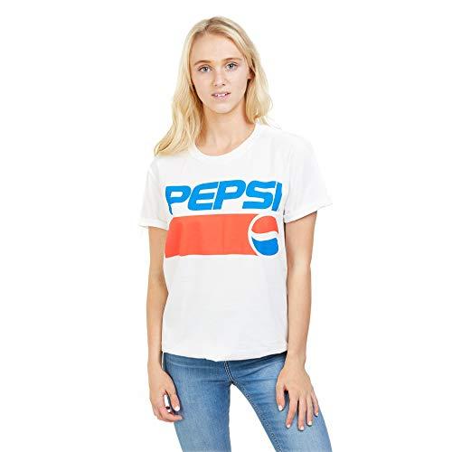 Pepsi Damen 1991 T-Shirt, Weiß (Weiß Weiß), X-Large