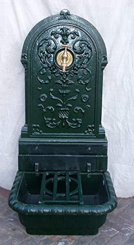 Fuente de Hierro Forjado 80. Fuente rústica, Muy Decorativa. Su diseño clásico le da un Aspecto Antiguo. Disponible en Color Zinc, Oxidado y Verde.