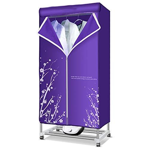 Secadora de Acero Inoxidable Secado rápido Secado al Aire Mudo Armario de Secado 1200W Violeta Carga de hasta 30KG hogar y Dormitorio (Color : Machinery)