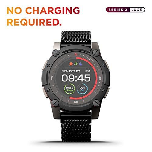 PowerWatch 2 Luxe - Smart Watch, Sportuhr, Solar- / thermoelektrische Ladung, Leistungsregelung, Körpertemperaturmessung, GPS und Höhe, iOS und Android