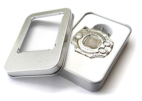 Nickel Plated Digimon Adventure Tri Digivice Clip On & Necklace Made of Solid Zinc Alloys by Decalism