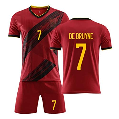 WWLONG 20 Jahre Europapokal Belgische Fußballuniform 10# E.Hasard Fußball Sportbekleidung, Erwachsene Kinder Trainingsanzug kann angepasst werden-Num7-XL