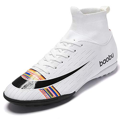 Mengxx High Top Spikes Entrenadores Zapatillas de Deporte Profesionales Zapatos de Competición Hombres Botas de Fútbol Zapatos de Atletismo de Fútbol para Niños