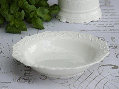 Chic Antique tiefer Teller Provence Suppenteller Porzellan Ø 21 cm