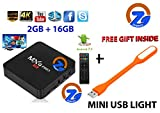 ZAMPEQ MXQ Pro 4K Android TV Box 2GB RAM/16GB ROM 64 Bit Quad