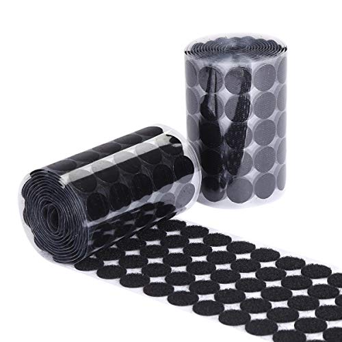 Sticky Back Coins Black Self Adhesive Dots 1000pcs(500 Pairs) 3/4