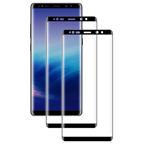 PUUDUU Verre Trempé pour Samsung Note 8, [2 pièces] Couverture Complète Dureté 9H, Anti Rayures, sans Bulles, Film Protecteur en Verre trempé pour Samsung Note 8