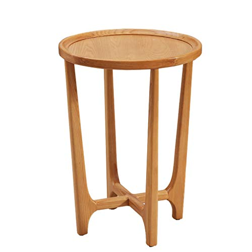 Tables basses Tables Table Basse Table De Téléphone Table De Chevet Tout en Rondins De Bois Massif Coin Canapé Table D'appoint Décontractée Petite Ronde Porte-Fleurs Tables de Dos de canapé