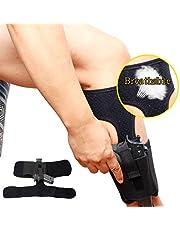Gexgune Funda de Tobillo para Transporte Oculto 1PC Funda de Pistola de Transporte de Pierna Ajustable Transpirable Ajustable con Bolsa de Revista para Glock 27,42,43.
