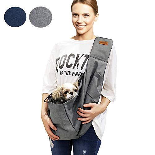 RETRO PUG Pet Carrier for Small and Medium Dogs,Cat - Pet Sling Purse - Front Pack – Travel Puppy Carrying Bag – Doggie Pouch – Adjustable Shoulder Strap – Tote Papoose – Chest Holder - 15~20 lbs