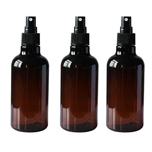 3 botellas vacías rellenables de 250 ml con rociador negro y tapa transparente para perfume, tarro de rocío puro pulverizador