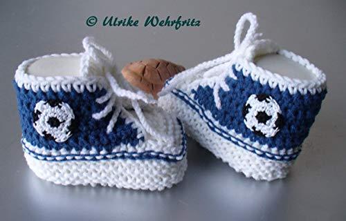 Babyschuhe Fußballschuhe gestrickt gehäkelt Auch in Wunschfarbe!