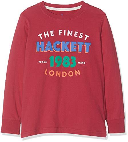 Hackett London Jungen T-Shirt 1983 Ldn T Ls Rot (Burgundy 299), 152 (Herstellergröße: 11-12 Years)
