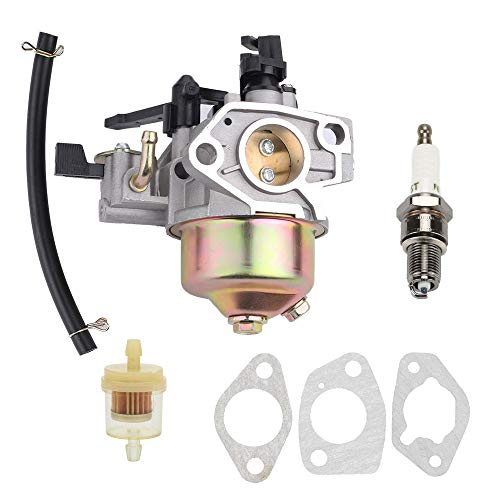 Buckbock Carburetor Carb Fits Honda GX340 11HP 16100-ZE3-V01 with Choke Level Spark Plug Fuel Filter and Gaskets