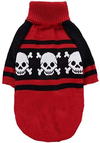 Mawson-Soft Dog Sweaters Super Special SALE held Skull Turtleneck Sweater Denver Mall Puppy Printed