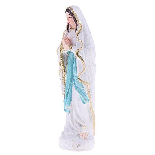 B Blesiya Figura en Miniatura Resina de Jardinería Juego para Casa de Muñecas - Virgen María 7 cm