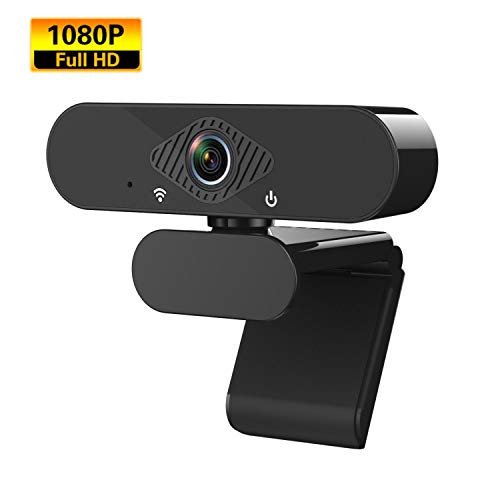 iTAKAT Webcam mit Mikrofon, Full HD 1080P Webcam Streaming Computer Web Kamera USB Kamera für PC Laptop Desktop Videoanrufe, Konferenzen-Schwarz