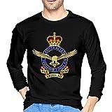 JIHOLIO AAC 8th Air Force WWII Wo Txt - Camiseta de manga larga para hombre, color negro, Negro , XXL