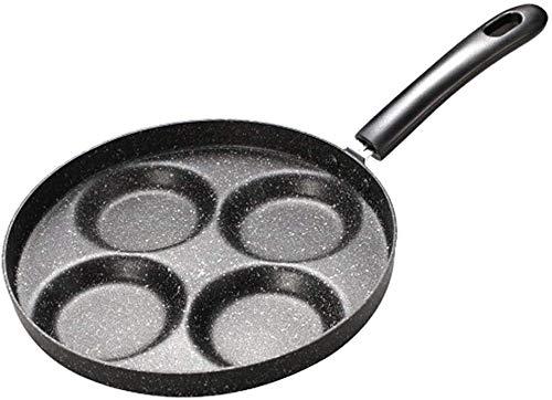 Acero inoxidable herramienta de la cocina antiadherente 4 Unidades de utensilios de cocina Sartén de huevo panqueque Filete que cocina la cacerola del pote de Cocina de gas Parrilla SARTÉN