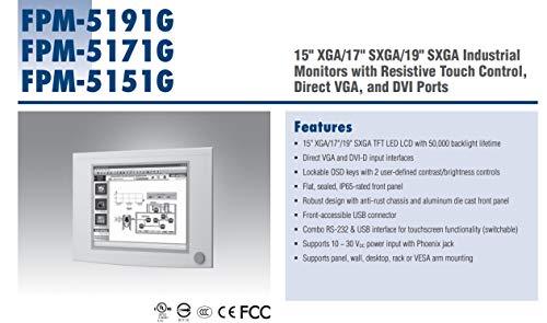 (DMC Taiwan) 17 inches SXGA ind. Monitor W/Resistive TS (RS-232, USB)
