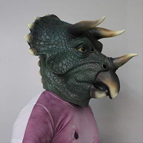 tytlmask dinosaurus volledige hoofd triceratops masker, latex masker, milieuvriendelijk volwassen grootte realistische deluxe voor halloween kostuum partij