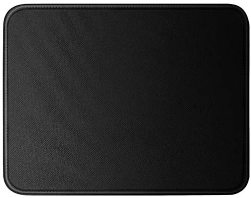 """Mouse Pad 1pc 11 x 8 3/4""""- Black Basic Gaming Mousepad with Stitched Edges, Non-Slip Rubber Base & Large Surface- Premium Waterproof Mouse Mat for Laptop, Computer & PC (1 Pack)"""