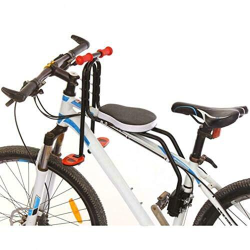 UIGJIOG Silla Bebe Bicicleta Delantera,Asiento de Bicicleta Infantil Ligero Plegable Silla Montaje Frontal de Bicicleta para Niños,Negro