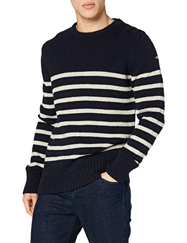 Schott Nyc PLOUTRIDER1, Pull Homme, Bleu (Navy/Naturel), XX-Large (Taille Fabricant: XXL)
