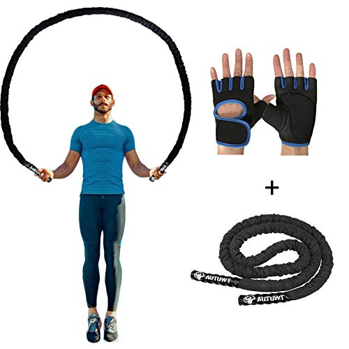 AUTUWT Heavy Jump Rope Skipping Rope Workout Battle Ropes with