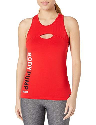 Reebok Damen Les Mills Bodypump Solid Tank Top, Primal Red, XX-Small