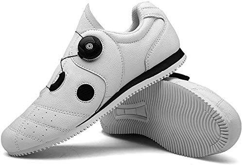 WYUKN Zapatillas de Ciclismo de Carretera Profesionales para Ciclismo de Carretera de Spinning MTB,Calzado de Ciclismo Profesional Sin Bloqueo,White-41