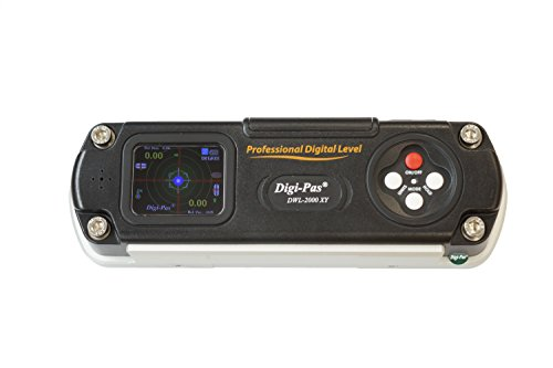 "Digi-Pas DWL2000XY 2-Axis Digital Machinist Level & Inclinometer 0.002""/ft (0.2mm/M) 6 Inch"