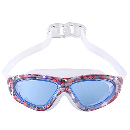 LOVE YOU BABY Adult Printed Swimming Goggles Electroplated Waterproof and Anti-Fog Swimming Goggles Leopard-Print HD Swimming Goggles meis99h (Color : 06)