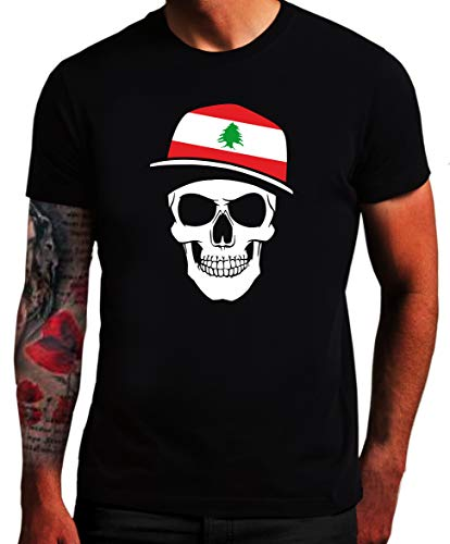 Camiseta del Líbano – Bandera de calavera – Calavera LEB SC
